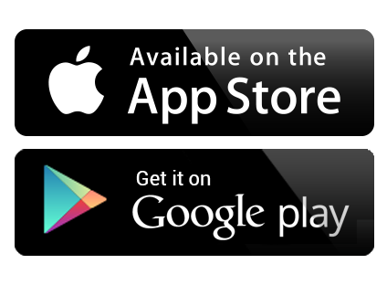 Logos Google Play Store and Apple App Store
